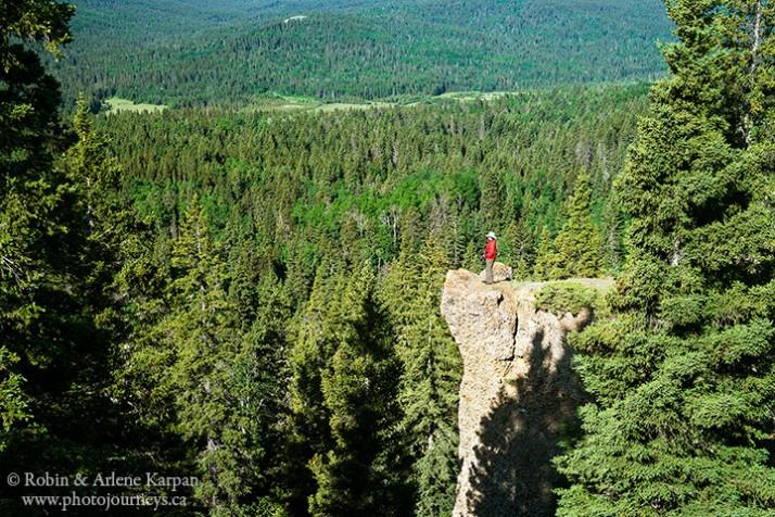Hidden conglomerate cliffs, Cypress Hills, SK
