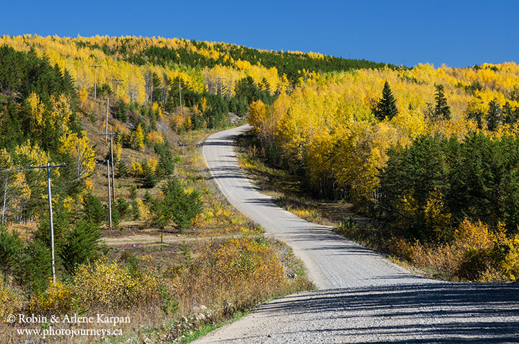 Hwy #913 through Narrow Hills Provincial Park, Saskatchewan