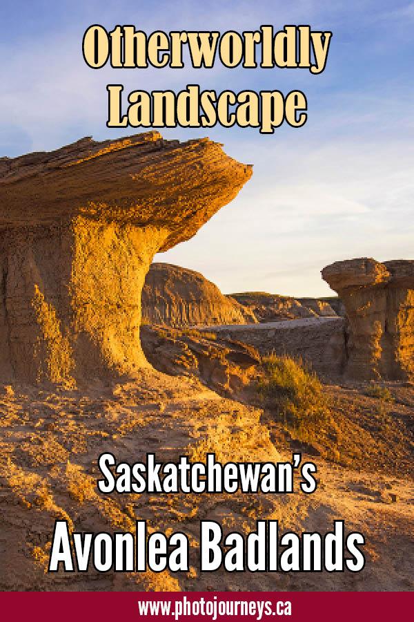 PIN for post on Avonlea Badlands, Saskatchewan