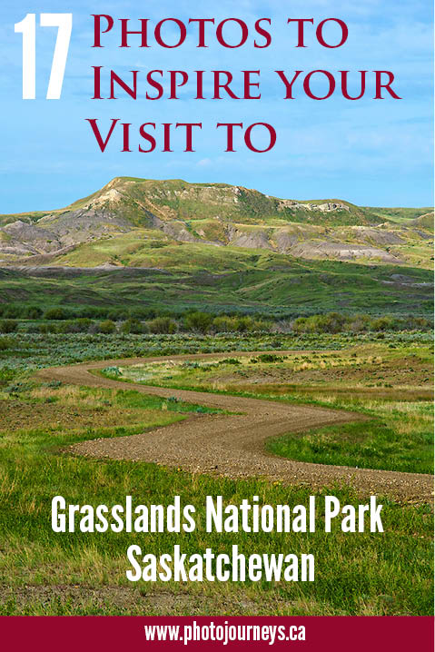 PIN for blog posting on Photos of Grasslands National Park
