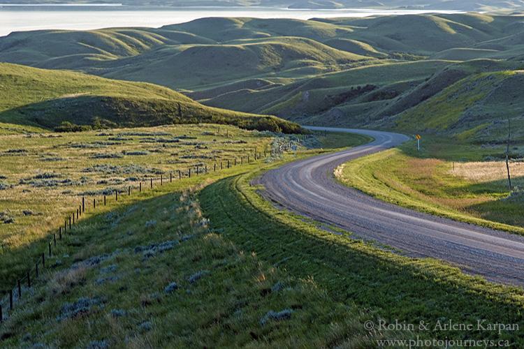 Road to Prairie Lake Regional Park, SK
