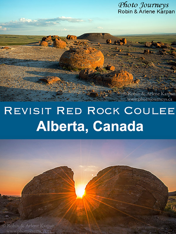 PIN for blog posting Red Rock Coulee Revisited, Alberta, Canada
