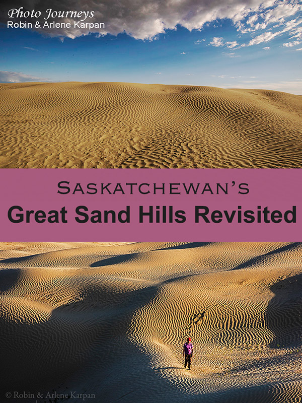 Pin for blog posting on Great Sand Hills, Saskatchewan, Canada