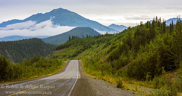 The Alaska Highway near Kluane National Park.