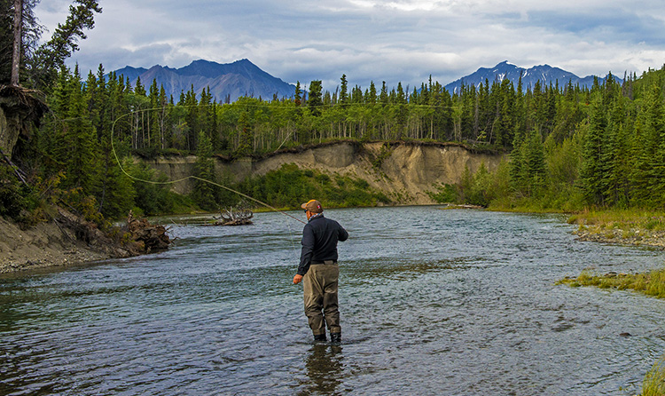 fly-fishing, Kluane, Yukon