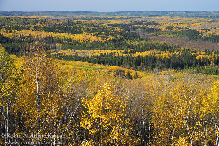 View from Height of Land Tower, Prince Albert National Park, Saskatchewan