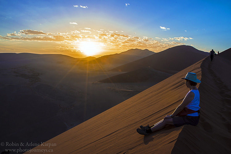 Sunrise from Dune 45, Namib-Naukluft National Park, Namibia www.photojourneys.ca