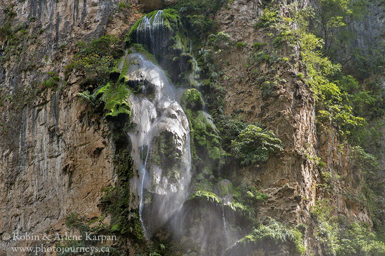 Christmas tree waterfall, Sumidero Canyon, Chiapas, Mexico