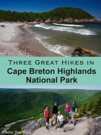 PIN for Three Great Hikes in Cape Breton Highlands National Park blog posting on Photojourneys.ca