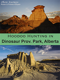 PIN for blog posting on Photojourneys.ca on Hoodoo Hunting in Dinosaur Provincial Park, Alberta