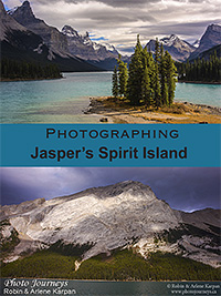 PIN for blog posting on Photojourneys.ca Photographing Jasper's Spirit Island