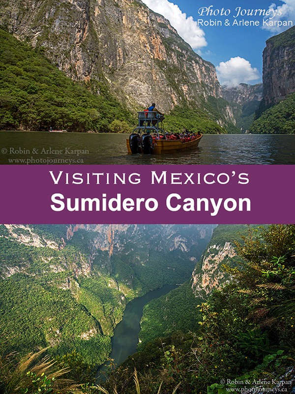 PIN for Blog posting for Sumidero Canyon article on Photojourneys.ca