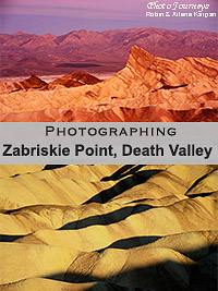 PIN for blog posting on Photojourneys.ca Photographing Zabriskie Point, Death Valley