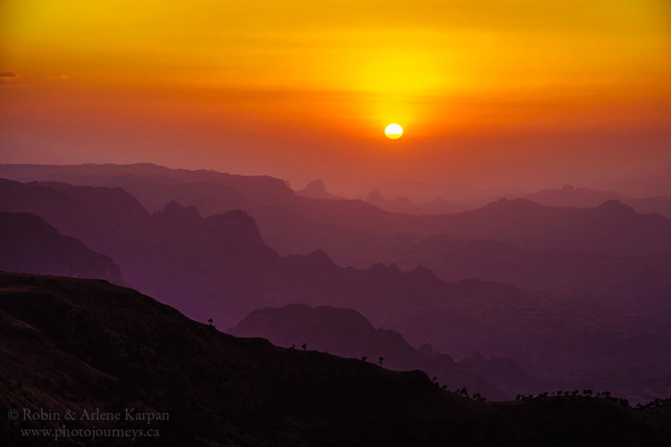Simien Mountains, Ethiopia, from www.photojourneys.ca
