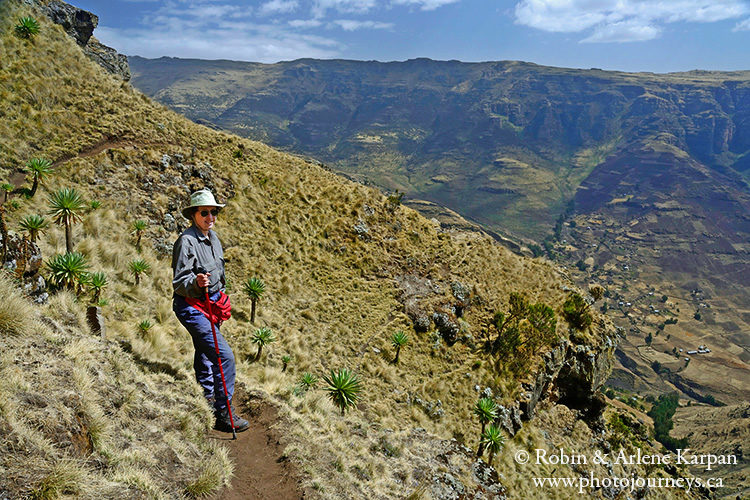 Hiking, Simien Mountains, Ethiopia from photojourneys.ca