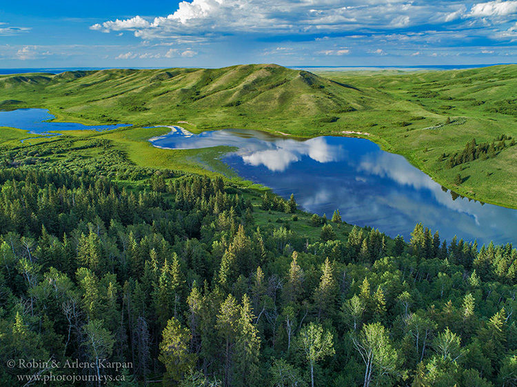 Adams Lake in the Cypress Hills, Saskatchewan.