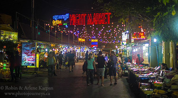 Seam Reap night market, Cambodia