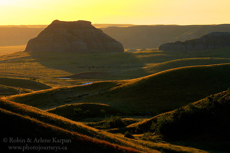 Castle Butte in Big Muddy Badlands, Saskatchewan