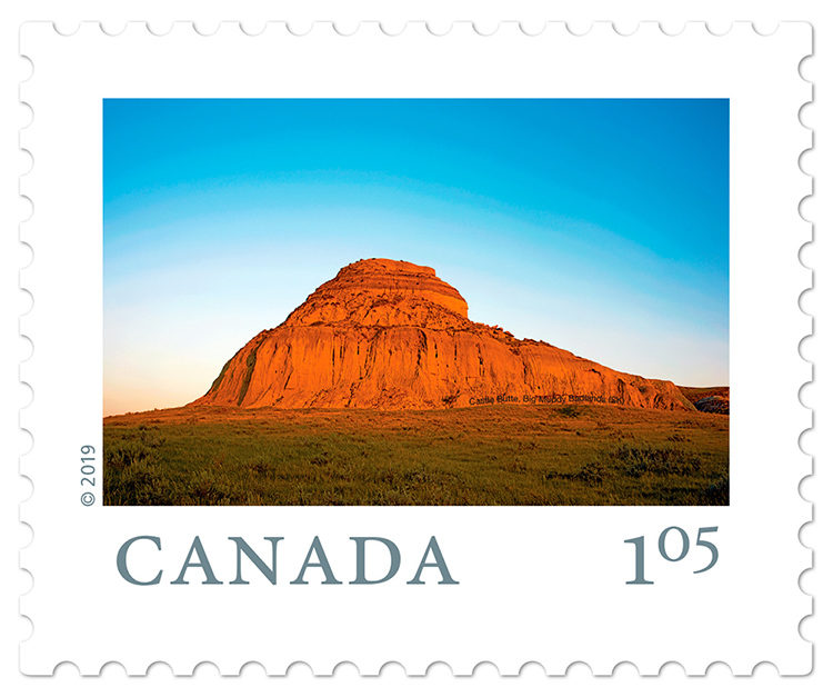 Castle Butte stamp from Photojourneys.ca