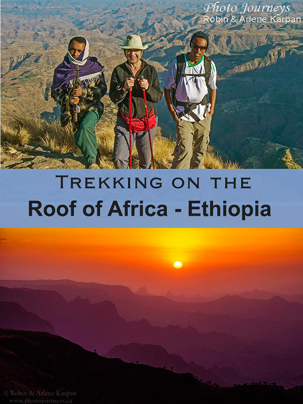 PIN for blog posting Trekking on the Roof of Africa, Ethiopia