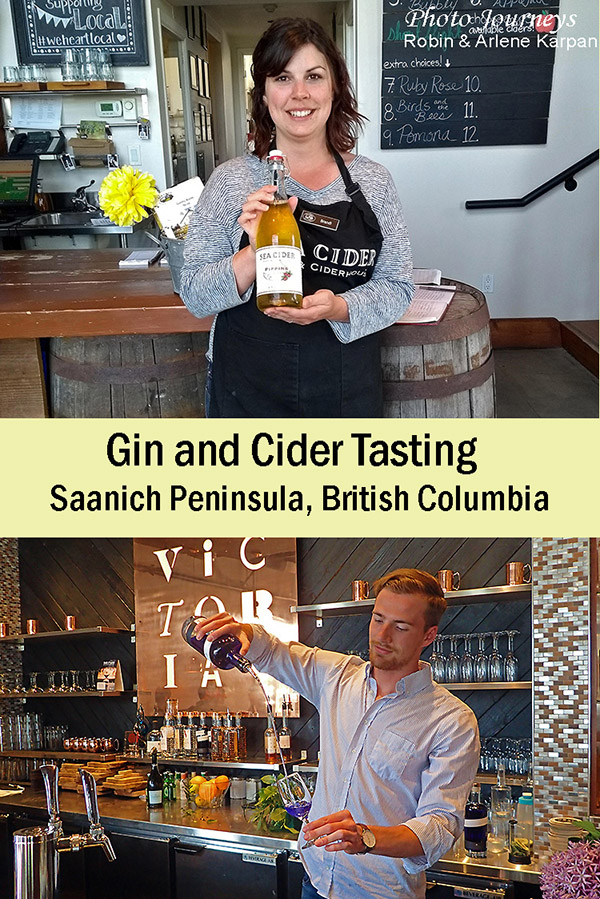 Gin and Cider Tasting post on Photojourneys.ca