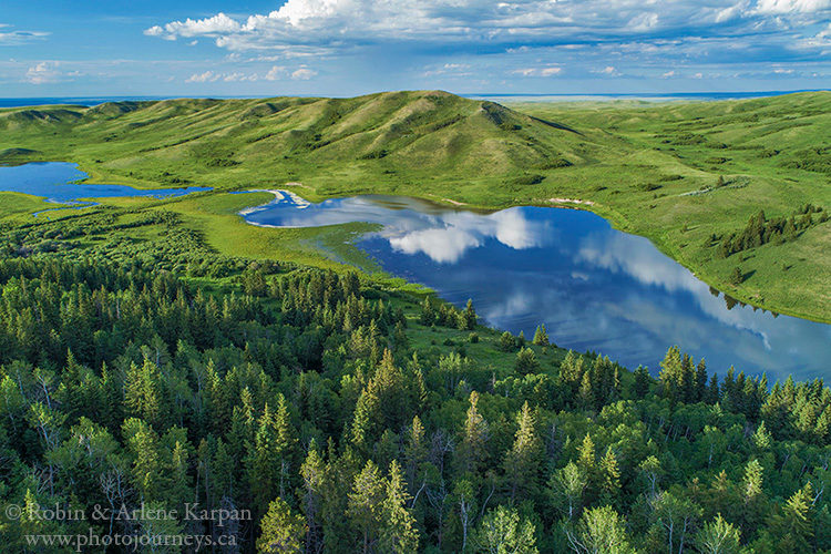Adams Lake in the Cypress Hills