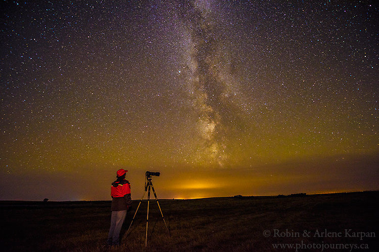 Luck Lake night sky, Saskatchewan