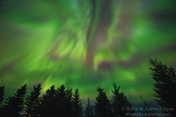 Northern lights, Saskatchewan