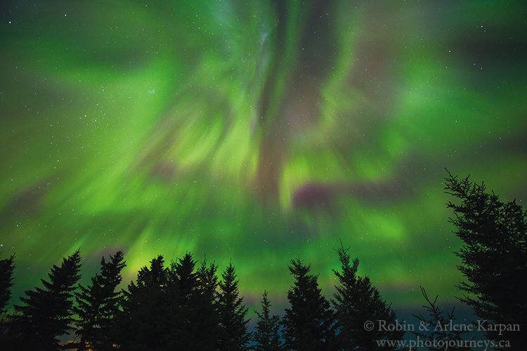 Northern lights, Saskatchewan
