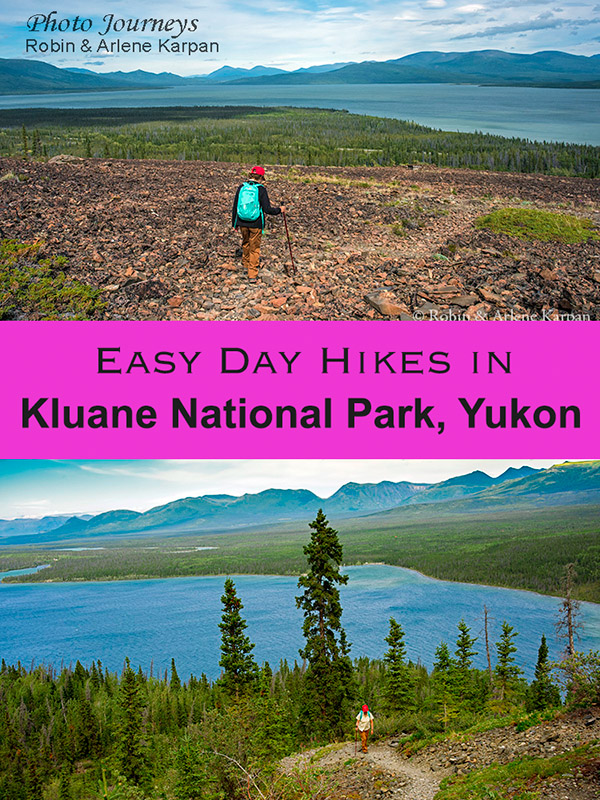 PIN for blog posting Day Hikes in Kluane National Park, Yukon