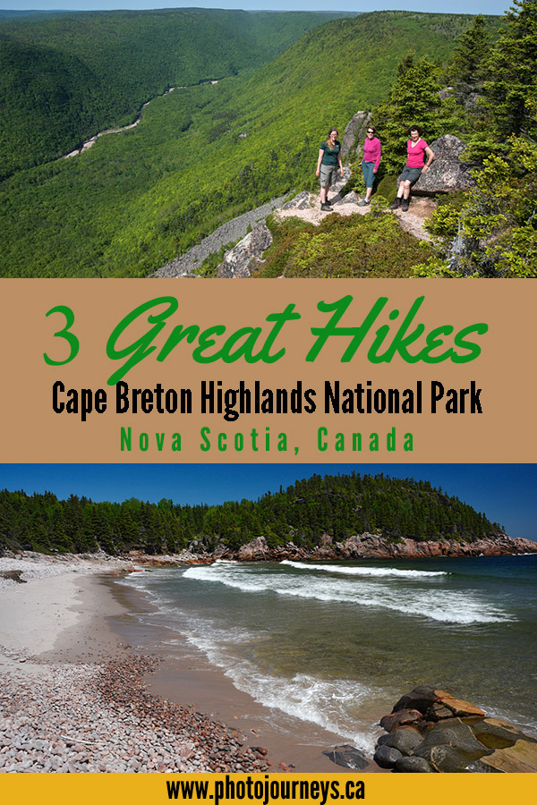 PIN for hiking, Cape Breton Highlands National Park from Photojourneys.ca