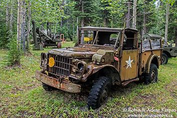 Old machinery, Alaska Highway