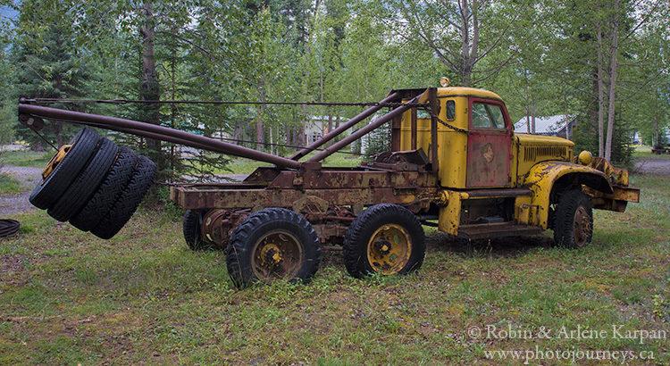 Machinery used in building Alaska Highway