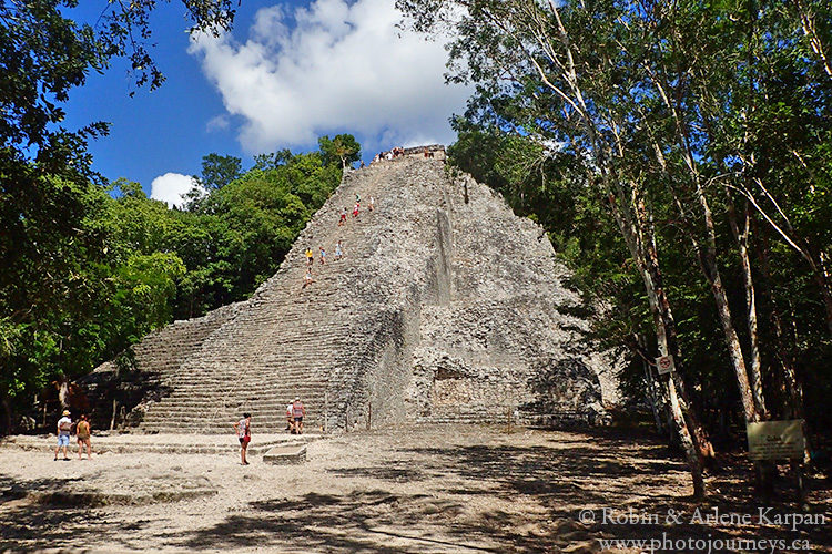 Pyramid at Coba, Mexico