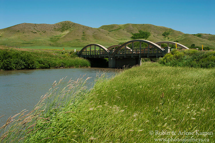 Bridge on the Qu'Appelle River, Saskatchewan.