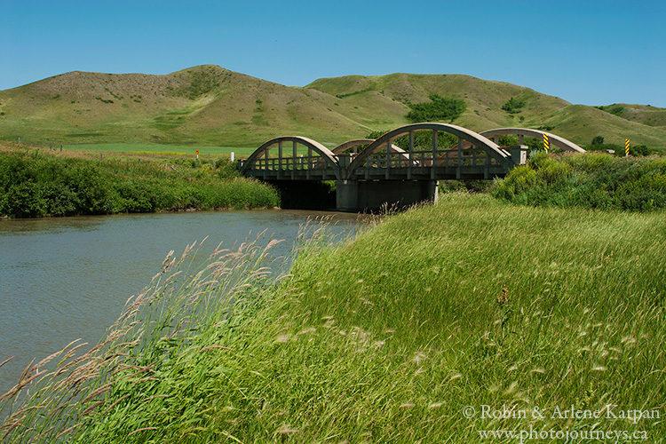Bridge on the Qu'Appelle River, Saskatchewan.