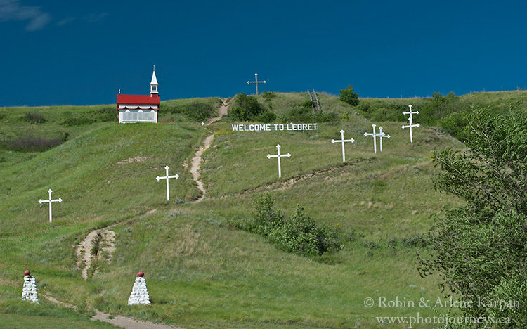 Chapel and Stations of the Cross, Lebret, Saskatchewan.