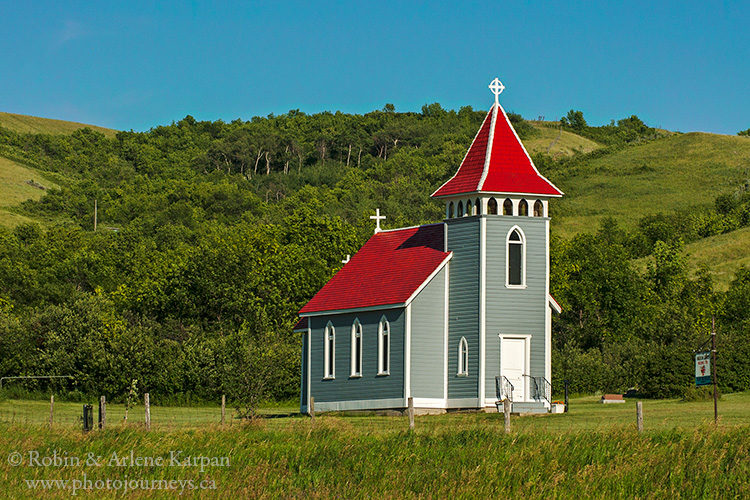 St. Nicholas Anglican Church in the Qu'Appelle Valley at Kennel, near Craven.