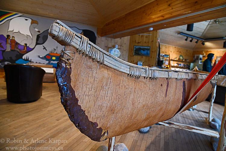 Birchbark canoe, Pukaskwa National Park, Ontario