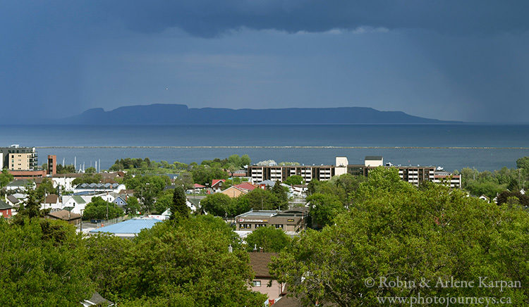 Sleeping Giant. as seem from Thunder Bay