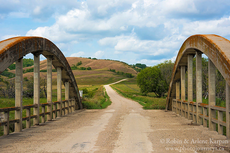 Bridge across the Qu'Appelle River, Saskatchewan.