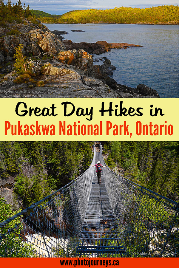 PIN for Hikes in Pukaskwa National Park posting on Photojourneys.ca