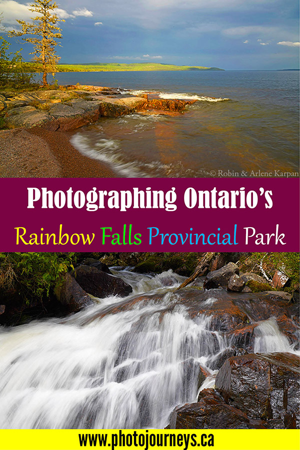 PIN for Rainbow Falls Provincial Park article on Photojourneys.ca