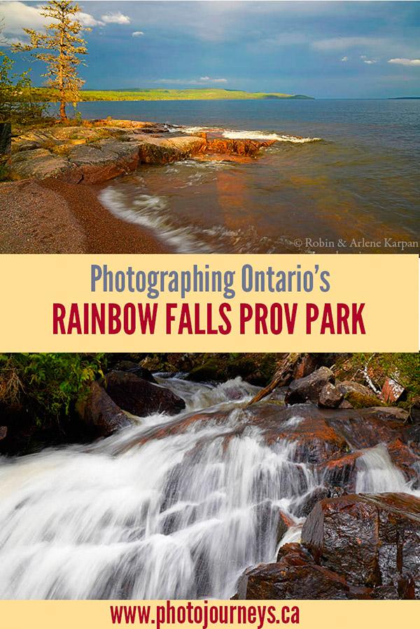Photographing Ontario's Rainbow Falls PIN