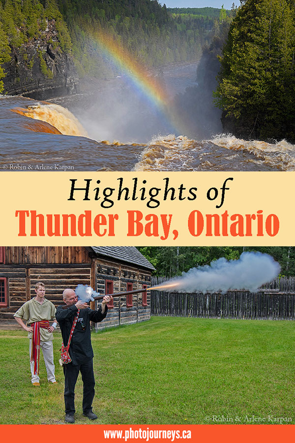PIN for blog posting on Highlights of Thunder Bay on Photojourneys.ca