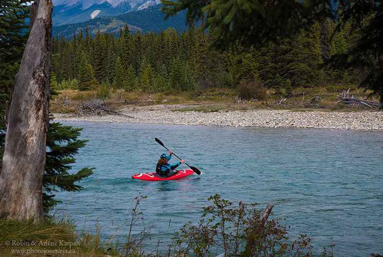 Kayak on the Kootenay River