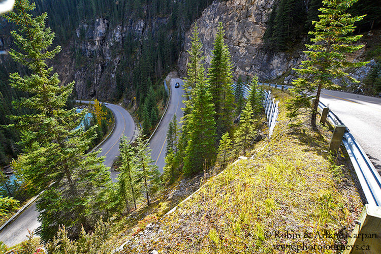 Switchbacks on the Yoho Valley Road, Yoho National Park