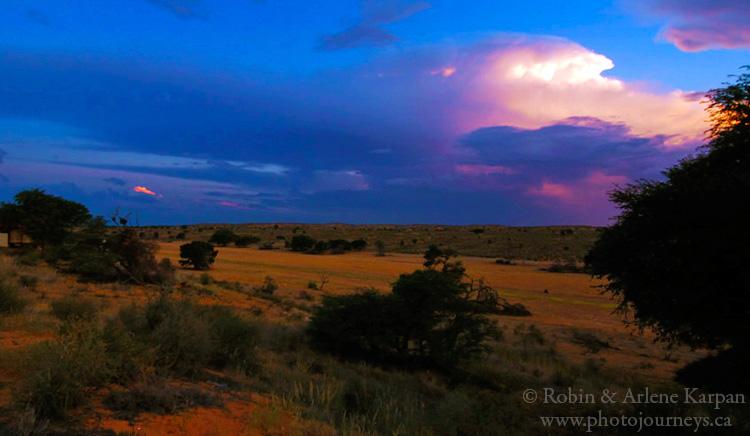 Thunder clouds, Kalahari Desert