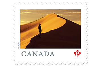 Postage stamp Athabasca Sand Dunes, Saskatchewan