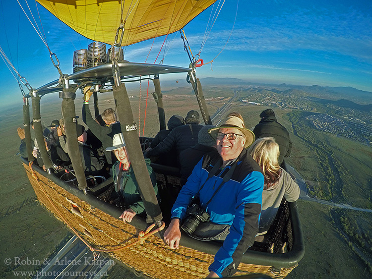 Hot air ballooning, Phoenix, Arizona